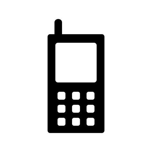 Icono de vector de teléfono celular