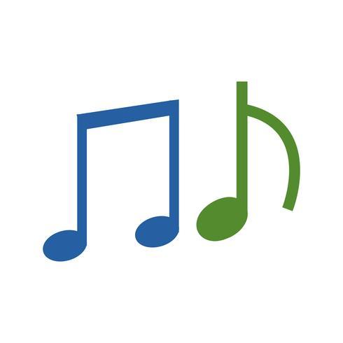 Icono de la música del vector