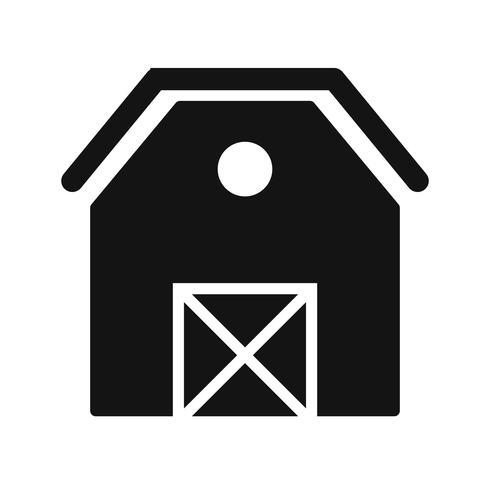Ícone de vetor de celeiro