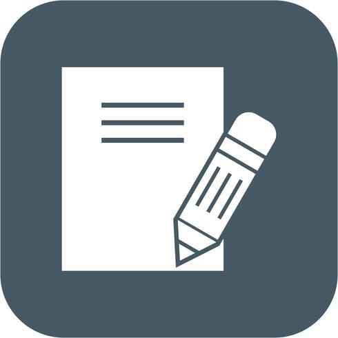 Ícone de notas de vetor