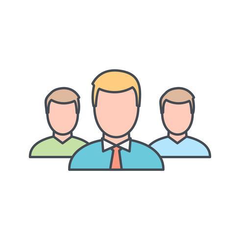 Führer der Gruppenvektorikone