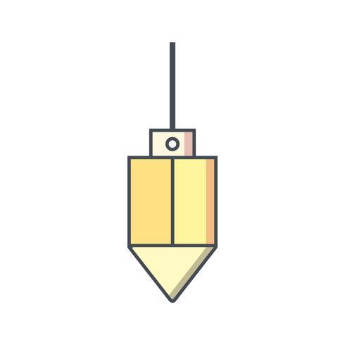 plumb bob vector icon