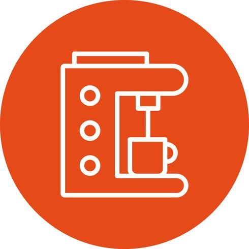 Kaffebryggare vektor ikon