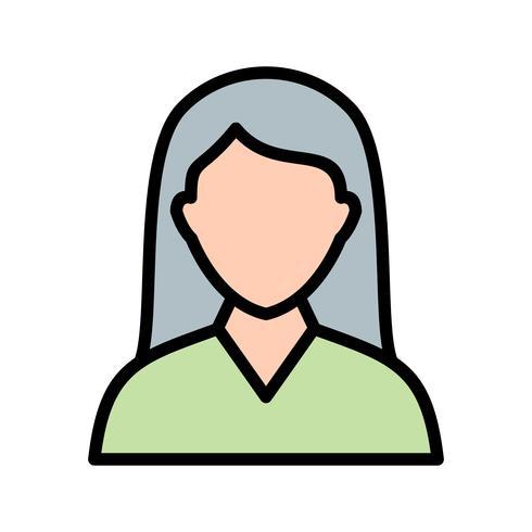 Vector ícone de estudante feminino