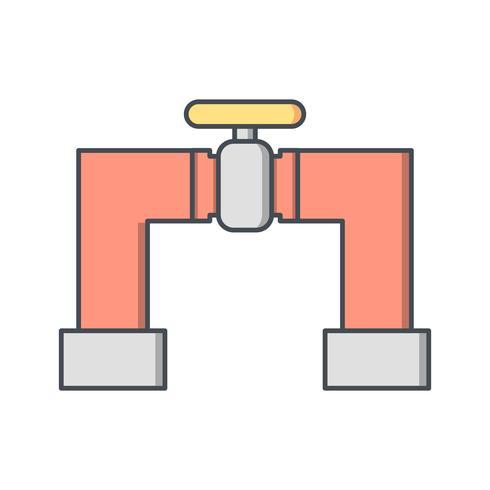 Icono de vector de tubería