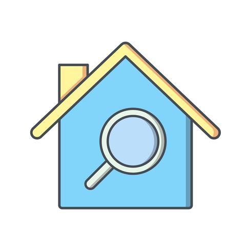Icono de Vector de Búsqueda de Propiedades