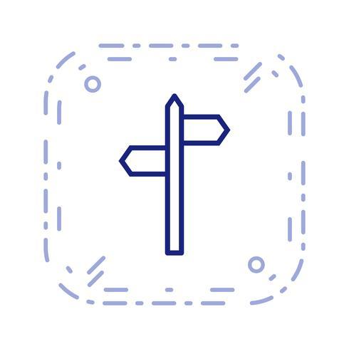 Ícone de vetor de direções