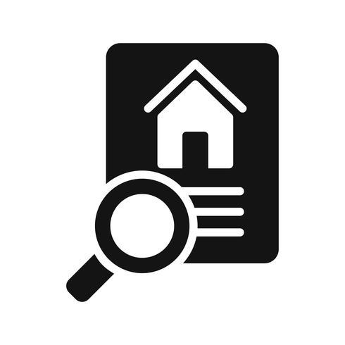 Ícone do vetor da busca da propriedade