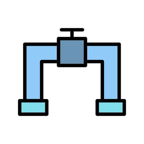 Ícone de vetor de tubulação