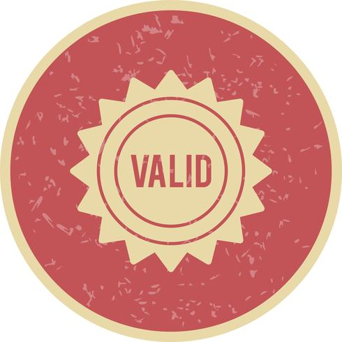 Vector Valid Stamp Icon