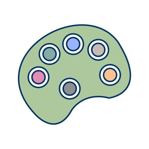 Ícone de palete de cor de vetor