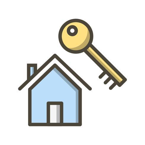 Icona di vettore chiave di casa