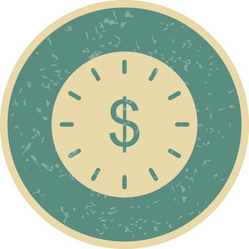 Temps est une icône de vecteur d'argent