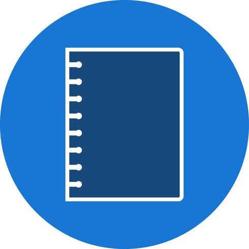 Vector Spiral Notebook Icon - Download Free Vector Art, Stock