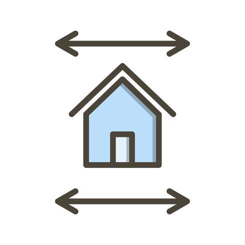 Ícone de vetor de modelo de imóveis