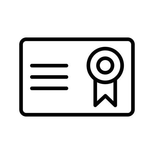 Vektor-Zertifikat Vektor-Symbol