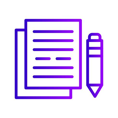 Ícone de vetor de documentação