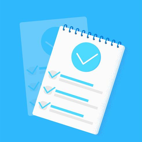 Survey research Checklist Template vector