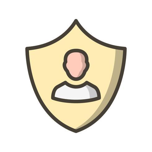 Ícone de vetor de proteção de negócios