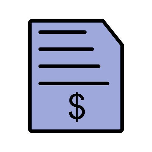 Icono de vector de factura