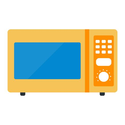 Microwave Oven Vector Icon
