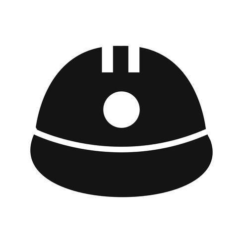Ícone de vetor de capacete