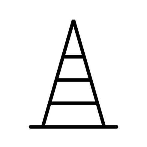 kegel vector pictogram