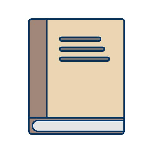 Ícone de livro de vetor