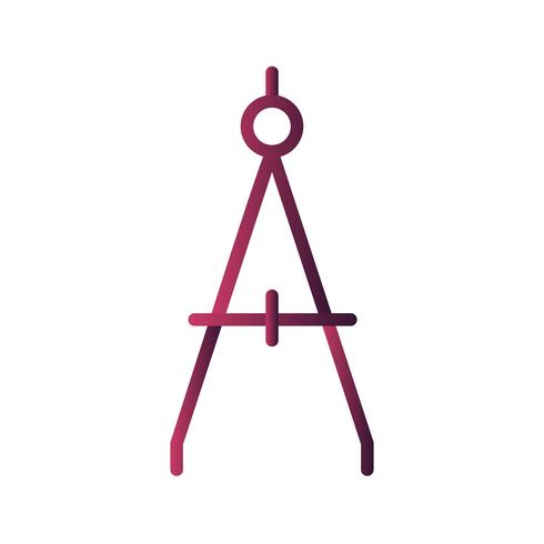 Vector icono de brújula