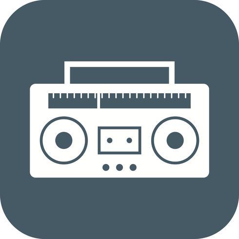 Ícone de vetor de fita de áudio