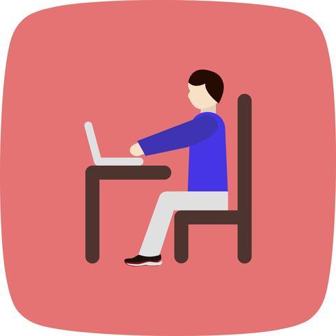 Vector Usando o ícone do Laptop