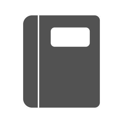 Icona del taccuino vettoriale