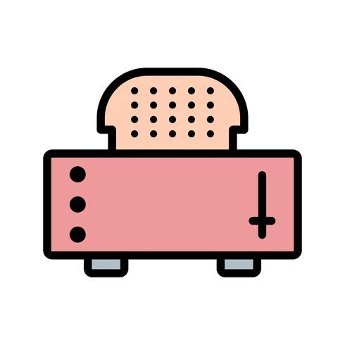Skiva Brödrost Vector Icon