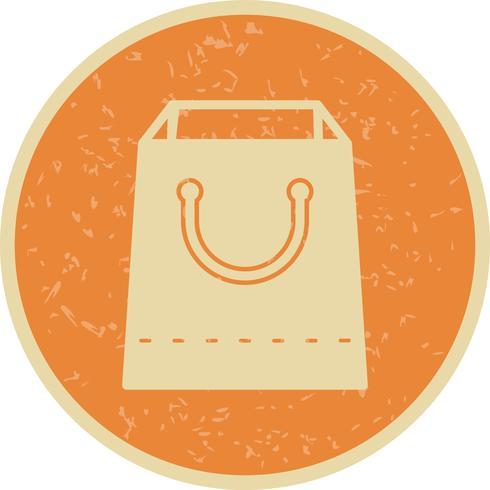 Vector icono de bolsa de compras