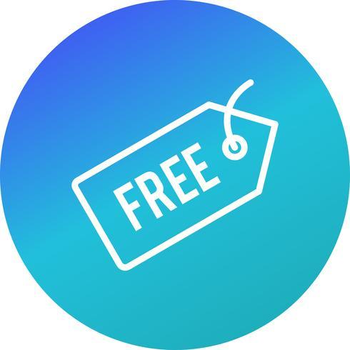 Vector icono de etiqueta gratis