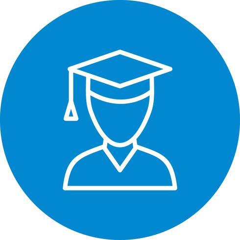 Vector icono de estudiante masculino