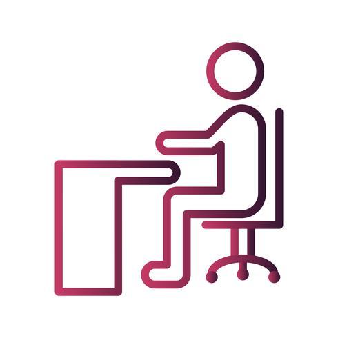 Vector sentado en el icono de escritorio