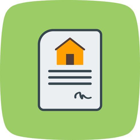 Icône de vecteur de contrat de maison