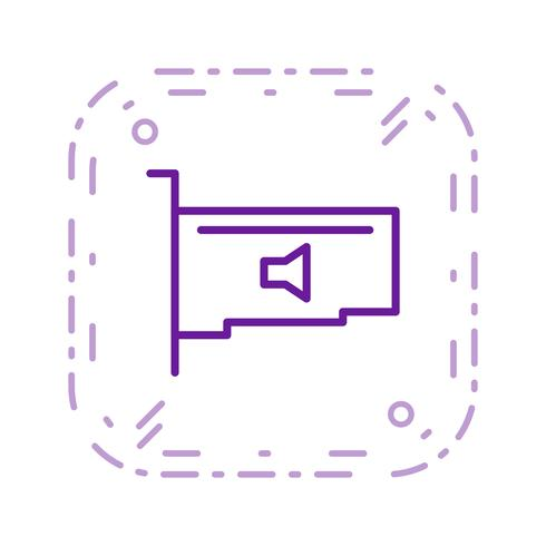 Audio Card Vector Icon