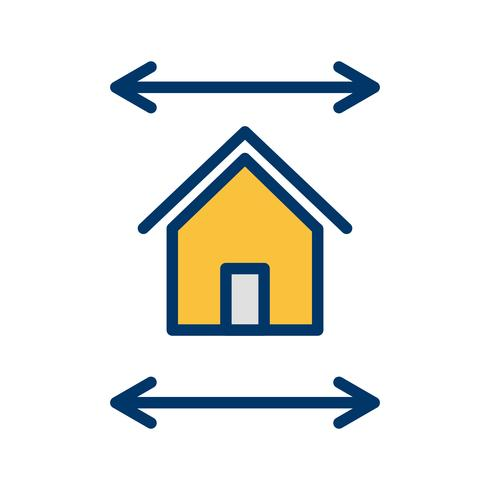 Icono de Vector de planos de bienes raíces