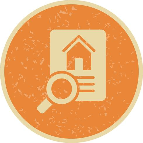 Icône de vecteur de recherche de propriété