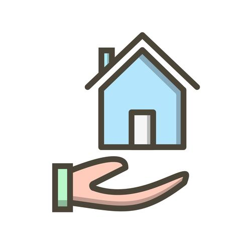 Icono de vector de hipoteca