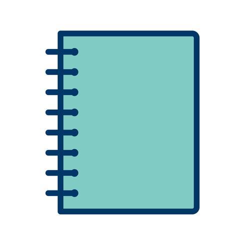 Vector spiraal Notebook-pictogram