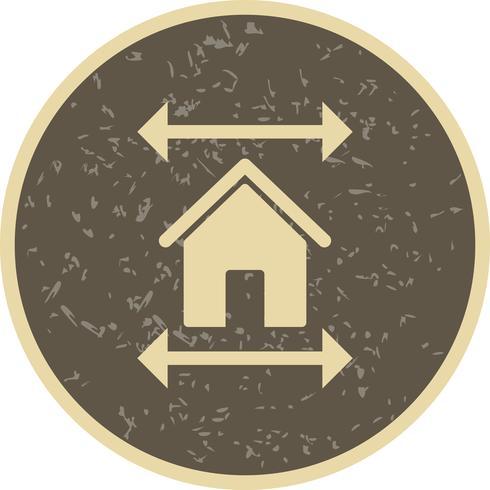 icona di vettore del modello immobiliare