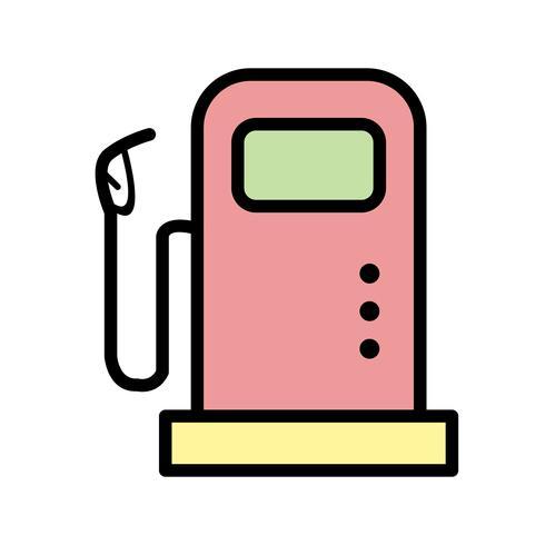 Icono de Vector de la estación de combustible