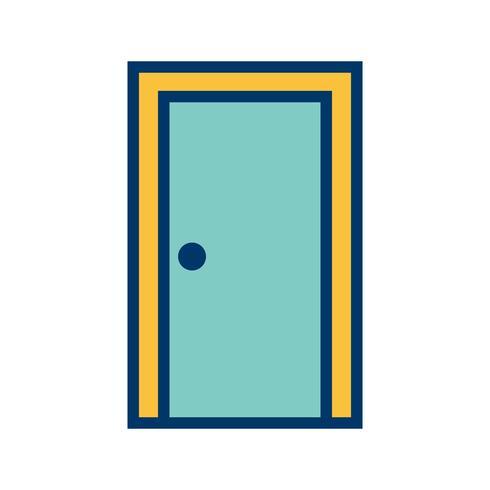 Tür-Vektor-Symbol