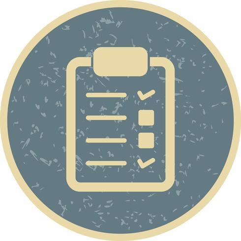 Icône de liste de contrôle de vecteur