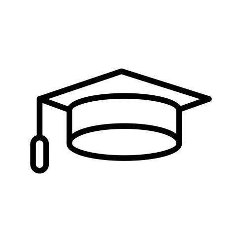 Icona di tappo di laurea vettoriale