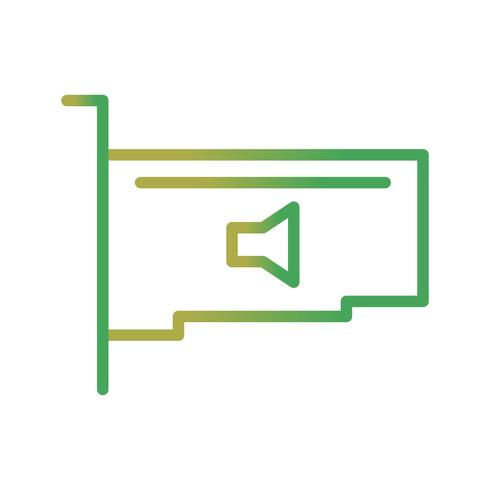 Audiokarte-Vektor-Symbol