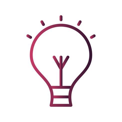 Icona della lampadina vettoriale